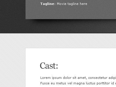 Grey Cast Notes blog texture website lines movie wordpress