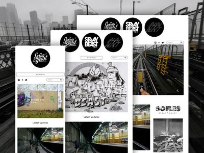 Spray Beast Website spray beast graffiti minimal wordpress clean