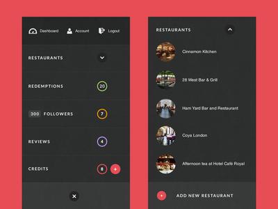 Off canvas menu - restaurants drop menu off canvas restaurants mobile