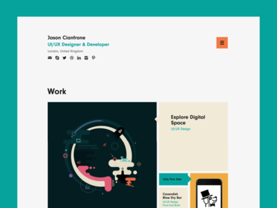Portfolio Launched! fibonacci london ui design portfolio
