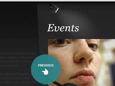 Events Slider slider texture dark turquoise icon