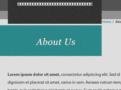 Cinema website section title cinema dark turquoise title wordpress