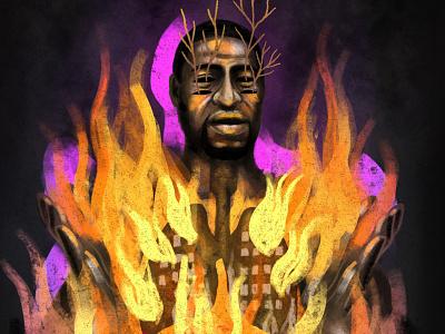 George Floyd ale de la torre art digitalartist digitalart digital artwork blacklivesmatter black illustration drawing georgefloyd