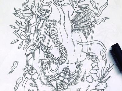 Inking (in progress illustration)