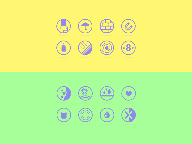 Wall Painting Icons icons design ui