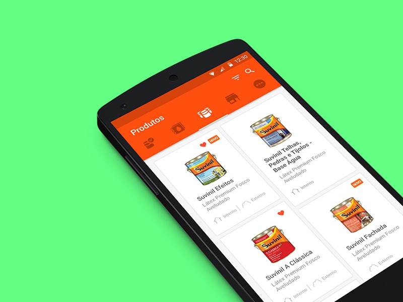 Guide Suvinil Android ui ux design