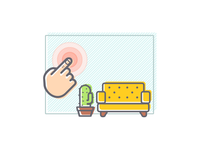 Touch To Paint ui ux illustration design