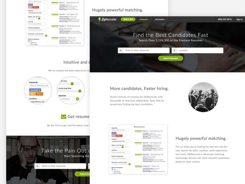 ziprecruiter resume database by blake crosley