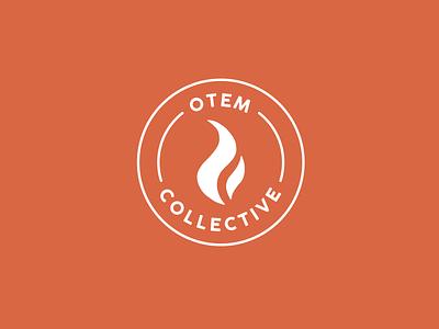 Otem Collective Logo circle logo circle brand identity community branding brand fire nonprofit logodesign logo