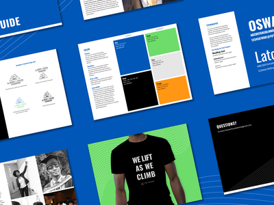 Style Guide for Non-Profit foundation bw blue poc black climb mountians guide brand identity identity style guide branding brand nonprofit