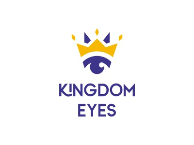Kingdom Eyes Logo nonprofit yellow royal purple eye logo crown logo logotype eyes eye crown kingdom king logo