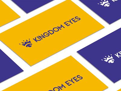 Kingdom Eyes Logo nonporfits nonprofit logo designer logo mark logotype yellow purple royal crown logo kingdom logo eye logo eyes kingdom logo
