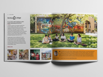 College Viewbook education nonprofit booklet brochure print marketing campaign viewbook layout students campus college community