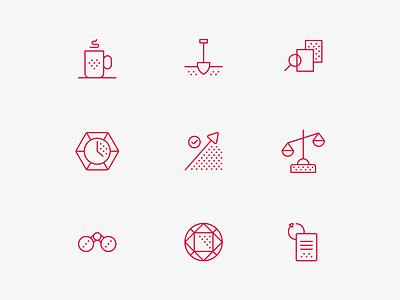 Acción Iconography marketing website branding design icon design iconography icon set icon