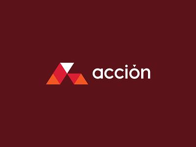 Acción Logo typography website mark identity logo branding design