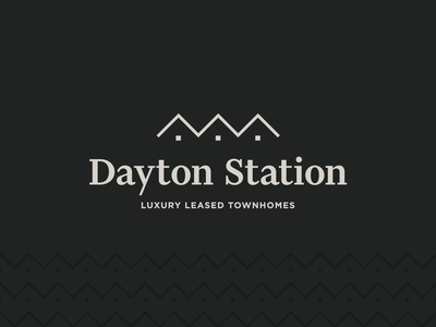 Dayton Station Logo vector co-motion mark identity logo branding design