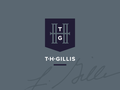 T•H•Gillis | Author Branding pattern signature mark identity author monogram logo branding design