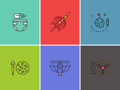 Popular Science Icon Set