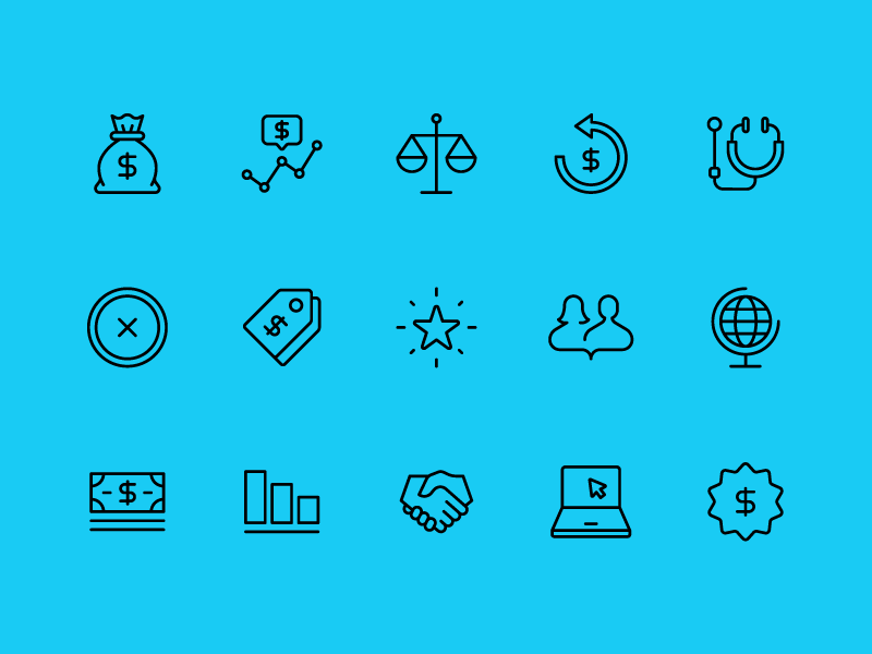 Burgess Report Icons 01 co-motion healthcare navigation app icons branding design