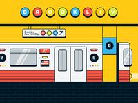 NYC Travel Illustration   Subway