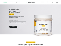 Gosimple website dribbble attachment product