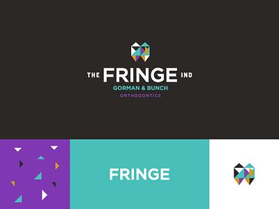 The Fringe Brand Board pattern event mark logo identity branding design