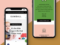 Gumball Landing Page