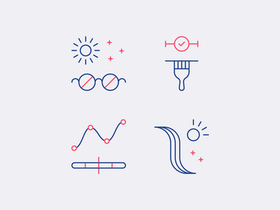 eSalon Highlight Icons website hair product simple icon set icon illustration icons branding design