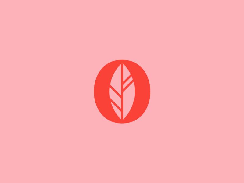 Leaf Mark monogram o icon leaf mark logo brand branding design