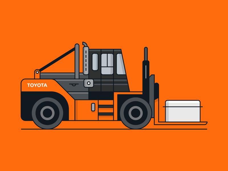 Toyota Vehicle 3/6 transportation vehicle toyota icons illustration design