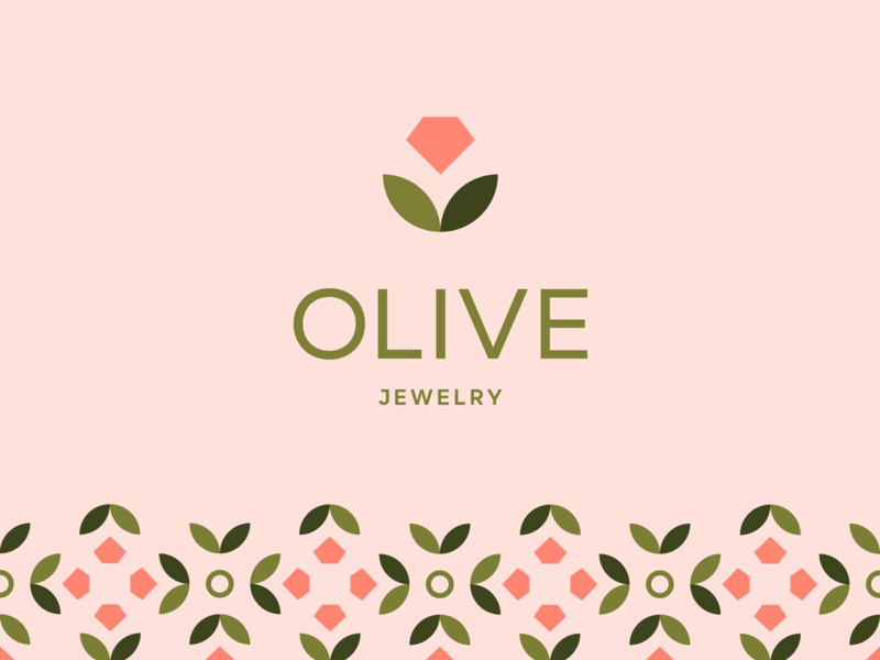 Olive Logo jewelry packaging icon typography mark logo identity branding design