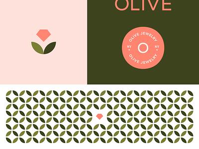 Olive Brand Board website mark logo identity branding design