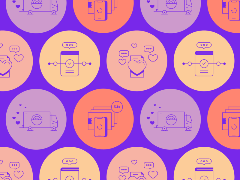Malomo Icons pattern brand co-motion ux ui simple icon set icon illustration icons identity branding design
