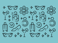 Self-Purchase Iconography pattern brand co-motion simple icon set icon illustration icons mark identity branding design