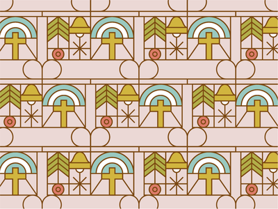 Holiday Sticker Pattern holiday christmas christ identity branding design