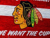 2013 Blackhawks Mural at 75% completetion