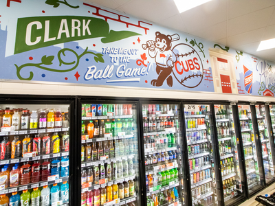 7-Eleven Mural Project in Chicago, IL sign painted sign painting signs icons design retail baseballs cubs wrigley wrigleyville chicago typography hand lettered hand painted murals mural