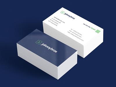 JohnnyBros: Business cards business cards print johnnybros space logo card branding bizness