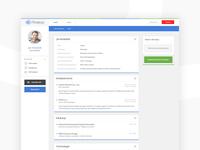 User profile — dashboard