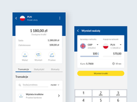 Wallet and currency exchange