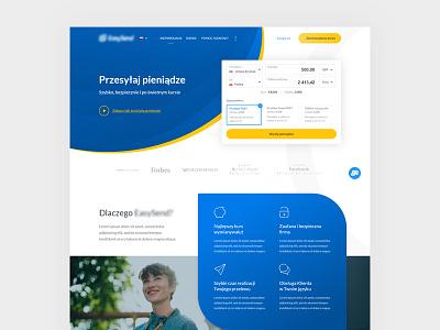 Money Transfer – Landing Page website www homepage webiste design landing page money