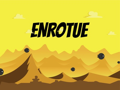Enroute game - Final Launch Poster illustrator dribbble typography ui game design illustration comics 2d graphic