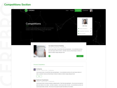 Cerebro - Competitions vector desktop app web design branding sdslabs cerebro user interface user center design illustration figma user experience graphic green ux illustrator design typography ui