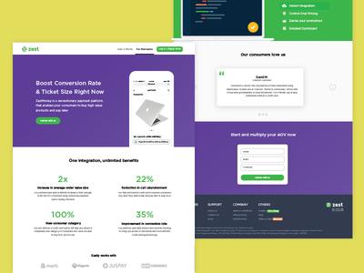 ZestMoney Merchant Page Redesign