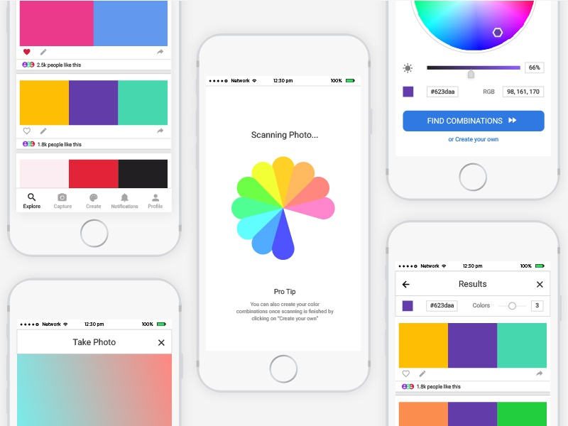 Splash Color Combination App Concept Design By Nikhil