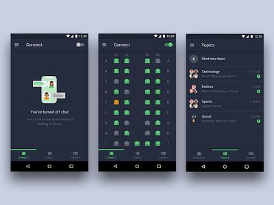 GOssip   Sketch Freebie app concept android dark discussion group chat travel freebie ux ui design