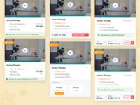 Variant UI Card Iterations   UrbanClap Internship Project