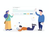 Team collaboration- Illustration