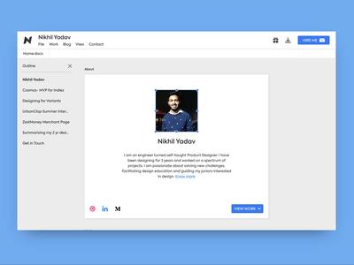 Google Docs themed portfolio