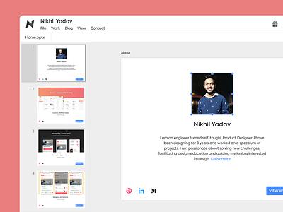 Google Slides based Portfolio clean design ux ui portfolio ppt powerpoint slides google slides google